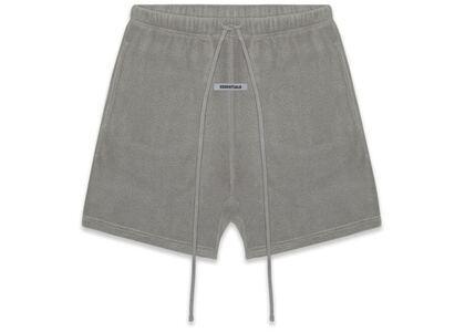ESSENTIALS Polar Fleece Shorts Grey Flannel/Charcoalの写真
