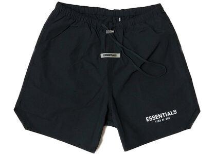 ESSENTIALS Nylon Active Shorts Blackの写真