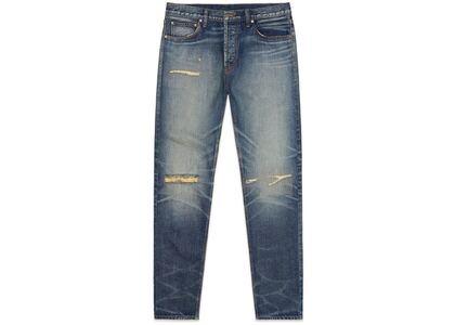 ESSENTIALS Denim Jeans Distressed Indigoの写真