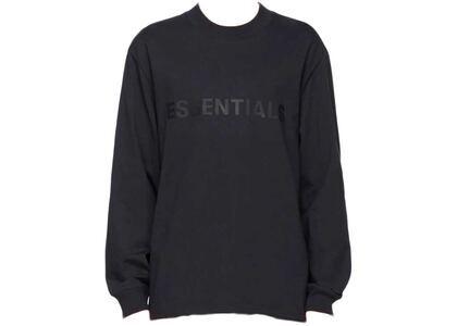 ESSENTIALS x SSENSE Boxy Long Sleeve T-Shirt Applique Logo Dark Navyの写真