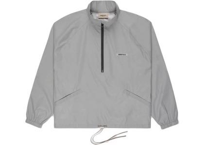 ESSENTIALS Track Jacket Silver Reflectiveの写真