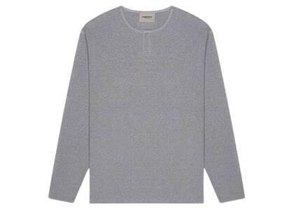 ESSENTIALS Thermal Longsleeve Henley T-Shirt Heather Greyの写真