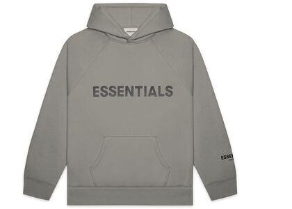 ESSENTIALS Pullover Hoodie Applique Logo Cementの写真
