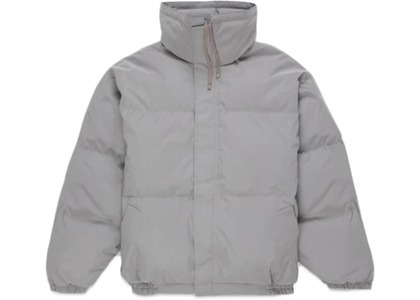 ESSENTIALS Puffer Jacket Silver Reflectiveの写真