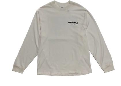 ESSENTIALS Long Sleeve Photo T-shirt Whiteの写真