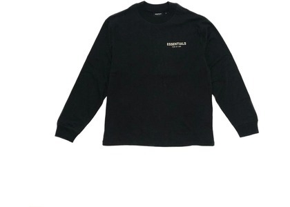 ESSENTIALS Long Sleeve Photo T-shirt Blackの写真