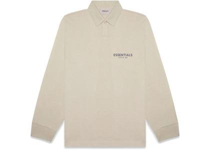 ESSENTIALS Long Sleeve Boxy Polo Olive/Khakiの写真