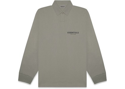 ESSENTIALS Long Sleeve Boxy Polo Cementの写真