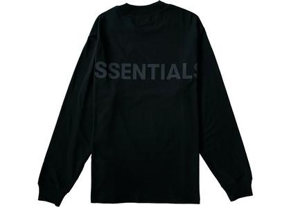 ESSENTIALS Logo Boxy Long Sleeve T-Shirt Black/Blackの写真