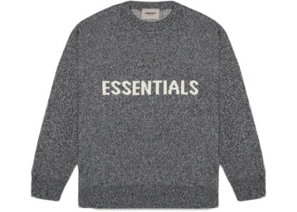 ESSENTIALS Knit Sweater Dark Slate/Stretch Limo/Blackの写真