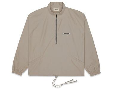 ESSENTIALS Half-Zip Track Jacket Taupeの写真