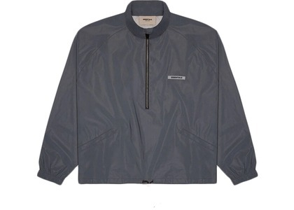 ESSENTIALS Half Zip Track Jacket Black Reflectiveの写真