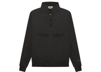 ESSENTIALS Half Zip Pullover Sweater Weathered Blackの写真