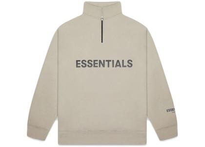 ESSENTIALS Half Zip Pullover Sweater Olive/Khakiの写真