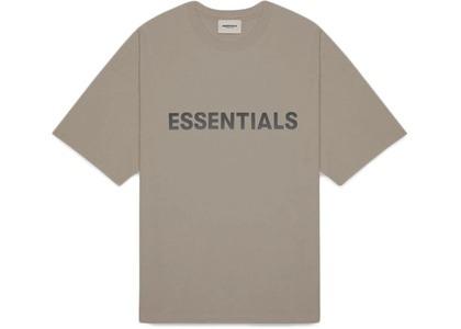 ESSENTIALS Boxy T-Shirt Applique Logo Taupeの写真