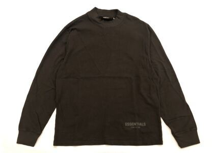 ESSENTIALS Boxy Long Sleeve T-Shirt Black Inkの写真