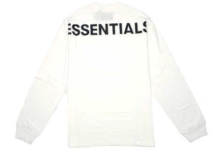 ESSENTIALS 3M Logo Long Sleeve Boxy T-Shirt Whiteの写真