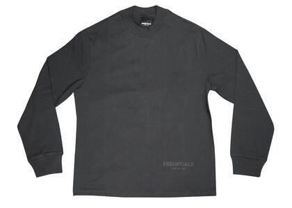 ESSENTIALS 3M Logo Long Sleeve Boxy T-Shirt Black/Whiteの写真