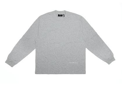 ESSENTIALS 3M Logo Boxy Long Sleeve T-Shirt Dark Heather Grey/Greyの写真