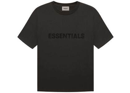 ESSENTIALS 3D Silicon Applique Boxy T-Shirt Weathered Blackの写真