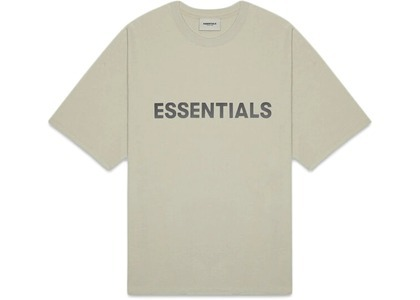 ESSENTIALS 3D Silicon Applique Boxy T-Shirt Mossの写真
