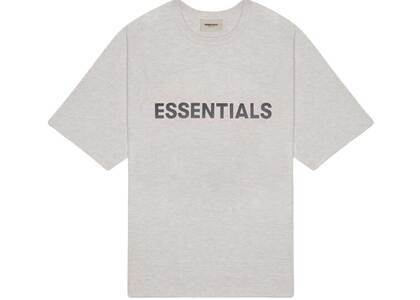 ESSENTIALS 3D Silicon Applique Boxy T-Shirt Heather Oatmealの写真