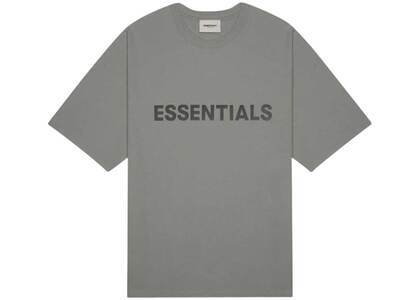 ESSENTIALS 3D Silicon Applique Boxy T-Shirt Gray Flannel/Charcoalの写真