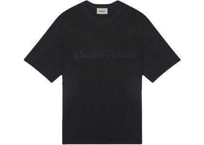 ESSENTIALS 3D Silicon Applique Boxy T-Shirt Dark Slate/Stretch Limo/Blackの写真