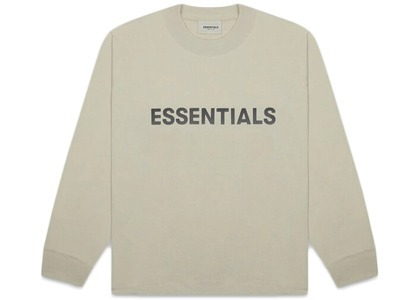 ESSENTIALS 3D Silicon Applique Boxy Long Sleeve T-Shirt Mossの写真
