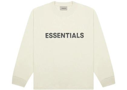 ESSENTIALS 3D Silicon Applique Boxy Long Sleeve T-Shirt Buttercreamの写真