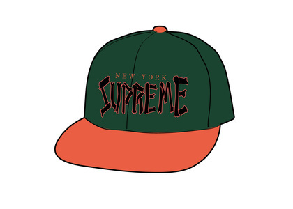 Supreme Bones Logo 5-Panel Greenの写真