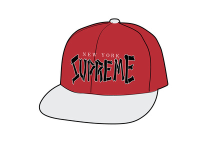 Supreme Bones Logo 5-Panel Redの写真
