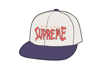 Supreme Bones Logo 5-Panel Whiteの写真