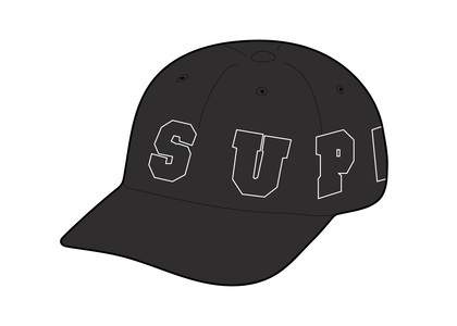 Supreme Spellout 6-Panel Blackの写真