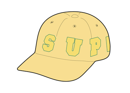Supreme Spellout 6-Panel Light Yellowの写真