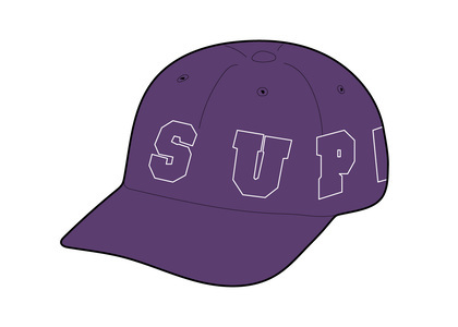 Supreme Spellout 6-Panel Purpleの写真