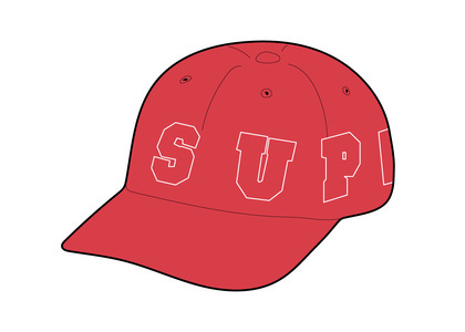 Supreme Spellout 6-Panel Redの写真