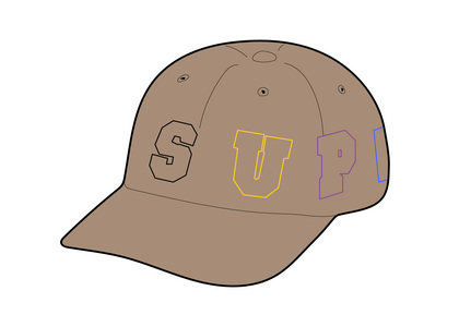 Supreme Spellout 6-Panel Tanの写真