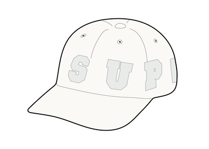 Supreme Spellout 6-Panel Whiteの写真