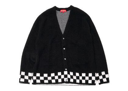 Supreme Brushed Checkerboard Cardigan Black (SS21)の写真