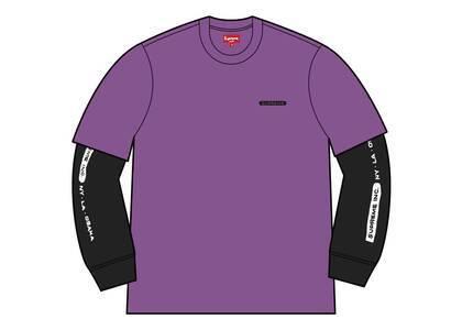 Supreme Supreme IncPaneled L/S Top Violet (SS21)の写真
