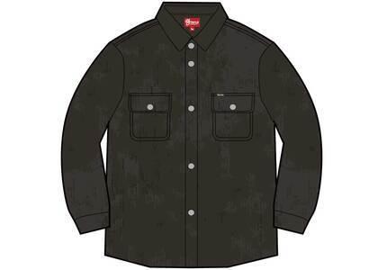 Supreme Washed Corduroy Shirt Blackの写真