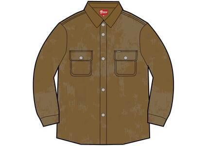 Supreme Washed Corduroy Shirt Brownの写真