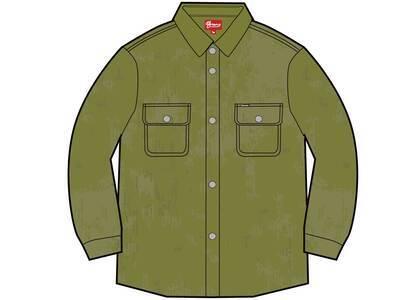 Supreme Washed Corduroy Shirt Greenの写真
