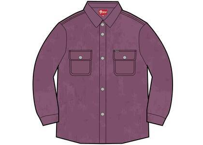 Supreme Washed Corduroy Shirt Purpleの写真