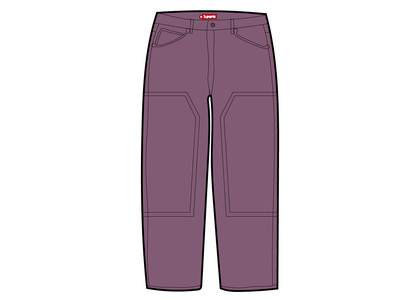Supreme Double Knee Corduroy Painter Pant Purpleの写真