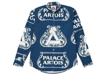 Palace Stella Artois Oxford Shirt Navy/White (SS21)の写真