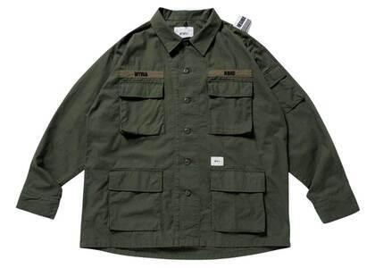Wtaps × Neighborhood Jungle LS Shirt Oliveの写真