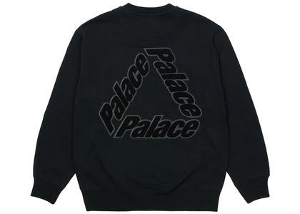 Palace P3 Chenille Crew Black  (SS21)の写真