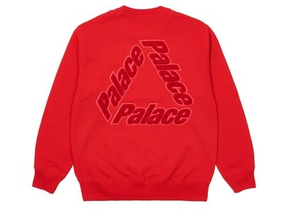Palace P3 Chenille Crew Red  (SS21)の写真